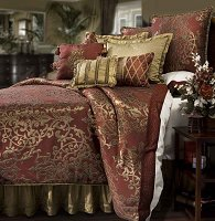 Glenaire, 4-PC California King Comforter Set (Pomegranate)