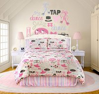 Little Dancer, 4-PC Full Comforter Set (Raspberry)