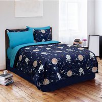 Galaxy Invaders - Navy Twin Comforter Set