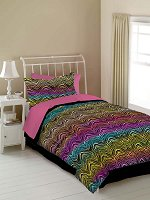 Rainbow Zebra, 4-PC Twin Comforter Set (Rainbow)