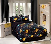 Rocket Star, 4-PC Queen Comforter Set (Black Multi)