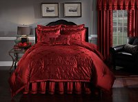 Sorrento, 4-PC Queen Comforter Set (Garnet)