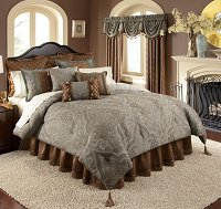 Valverde-4-PC Full Comforter Set (Blue-Green)