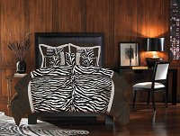 Zumani, 4-PC Queen Comforter Set (Zebra)
