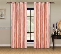 Capri, Dolce Mela Damask Window Treatments, Single Panel Grommet Drapes