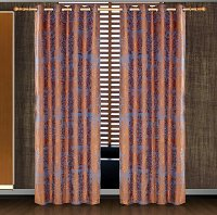 Hathor, Dolce Mela Damask Window Treatments, Single Panel Grommet Drapes