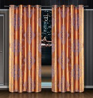 Freya, Dolce Mela Damask Window Treatments, Single Panel Grommet Drapes