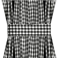 Black Gingham French Door Curtain Panels (available in many lengths)