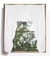 Solid Bright White Colored Swag Window Valance (optional center piece available)