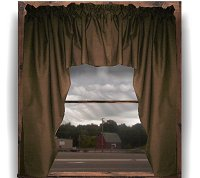 Solid Brown Colored Swag Window Valance (optional center piece available)