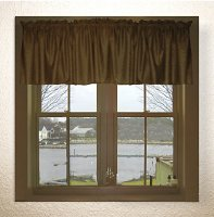 Solid Brown Color Valances (set of two 40 inch wide, available in many lengths)