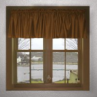 Solid Copper Brown Color Valances (set of two 40 inch wide, available in many lengths)