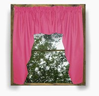 Solid Hot Pink-Fuchsia Colored Swag Window Valance (optional center piece available)