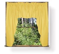 Solid Golden Yellow Colored Swag Window Valance (optional center piece available)