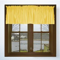 Solid Golden Yellow Valance, 74″ Wide x 14″ Long, Unlined