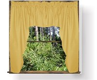 Solid Gold Colored Swag Window Valance (optional center piece available)