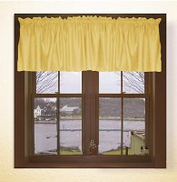 Solid Gold Color Valances (set of two 40 inch wide, available in many lengths)