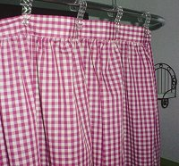 Hot Pink-Fuchsia Gingham Check Shower Curtain