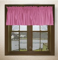 Solid Hot Pink-Fuchsia Color Valances (set of two 40 inch wide, available in many lengths)