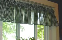 Hunter Gingham Check Valances (set of two 40 inch wide, available in many lengths)