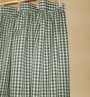 Hunter Green Gingham Check Shower Curtain