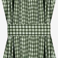 Hunter Green Gingham French Door Curtain Panels (available in many lengths)