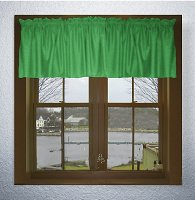 Solid Kelly Green Color Valances (set of two 40 inch wide, available in many lengths)