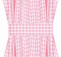 Light Pink Gingham French Door Curtain Panels (available in many lengths)