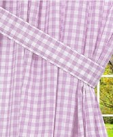 Light Purple Gingham Check Window Long Curtain (available in many lengths and with or without white or blackout lining)