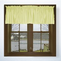 Solid Light Yellow Color Valances (set of two 40 inch wide, available in many lengths)