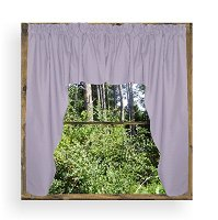Solid Light Purple (Lilac) Colored Swag Window Valance (optional center piece available)
