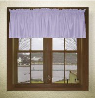 Solid Light Purple (Lilac) Color Valances (set of two 40 inch wide, available in many lengths)
