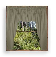 Solid Medium Gray Colored Swag Window Valance (optional center piece available)