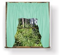 Solid Mint Green Colored Swag Window Valance (optional center piece available)