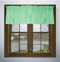 Solid Mint Green Color Valances (set of two 40 inch wide, available in many lengths)
