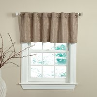 Circuit - Mocha 50 X 18 Lined Valance