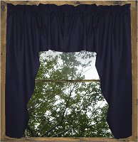 Solid Navy Blue Colored Swag Window Valance (optional center piece available)