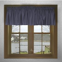 Solid Navy Blue Color Valances (set of two 40 inch wide, available in many lengths)