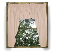 Solid Nude-Blush Pink Colored Swag Window Valance (optional center piece available)