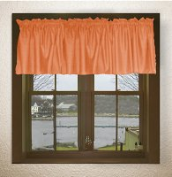 Solid Orange Color Valances (set of two 40 inch wide, available in many lengths)