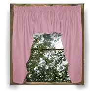 Solid Pink Colored Swag Window Valance (optional center piece available)