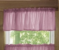 Solid Powder Plum Color Valances (set of two 40 inch wide, available in many lengths)