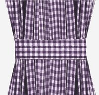 Purple Gingham French Door Curtain Panels (available in many lengths)