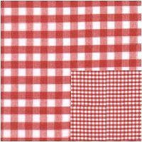Red Mini Check Gingham Kitchen/Café Curtain (unlined or with white or blackout lining in many custom lengths)