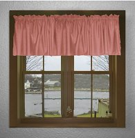 Solid Rose Color Valances (set of two 40 inch wide, available in many lengths)