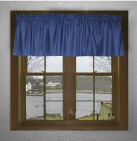 Solid Royal Blue Color Valances (set of two 40 inch wide, available in many lengths)