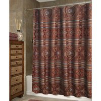 Pueblo Bath - Rust Shower Curtain