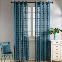 Window Sheer Curtains Panel, Santa Cruz