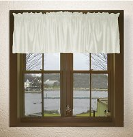 Solid Soft White Color Valances (set of two 40 inch wide, available in many lengths)