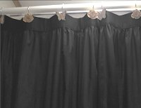 Solid Black Colored Shower Curtain